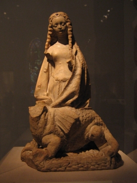 Dragon and Saint_Margaret_sculpture