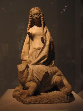 Dragon and Saint_Margaret_sculpture